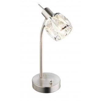 GLOBO 54356-1T | Kris-Indiana-Mero Globo asztali lámpa kapcsoló flexibilis 1x E14 króm, matt nikkel, átlátszó