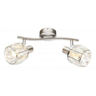 GLOBO 54356-2 | Kris-Indiana-Mero Globo spot lámpa elforgatható alkatrészek 2x E14 króm, matt nikkel, átlátszó