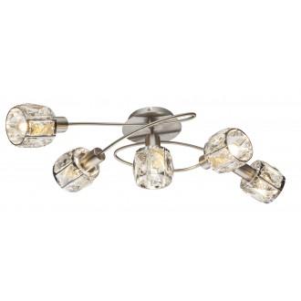 GLOBO 54356-5 | Kris-Indiana-Mero Globo mennyezeti lámpa 5x E14 króm, matt nikkel, átlátszó