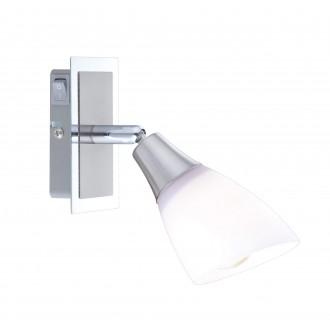 GLOBO 5450-1 | Frank Globo spot lámpa kapcsoló elforgatható alkatrészek 1x E14 króm, matt nikkel, opál