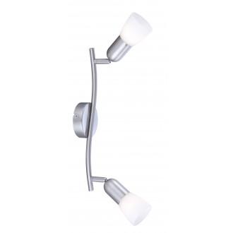 GLOBO 5453-2 | CathyArni Globo spot lámpa 2x E14 matt nikkel, fehér