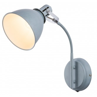 GLOBO 54646-1W | Jonas-Giorgio Globo spot lámpa kapcsoló flexibilis 1x E14 króm, beton, fehér