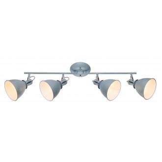 GLOBO 54646-4 | Jonas-Giorgio Globo spot lámpa elforgatható alkatrészek 4x E14 króm, beton, fehér