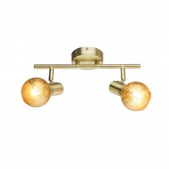 GLOBO 54841-2 | Tigre-Zacate Globo fali, mennyezeti lámpa elforgatható alkatrészek 2x E14 mattított arany, arany