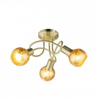 GLOBO 54841-3D | Tigre-Zacate Globo mennyezeti lámpa 3x E14 mattított arany, arany