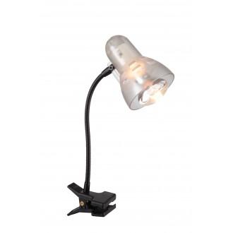 GLOBO 54850   Clip Globo csiptetős lámpa kapcsoló flexibilis 1x E14 fekete, áttetsző