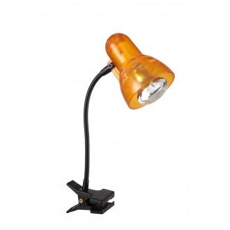 GLOBO 54852 | Clip Globo csiptetős lámpa kapcsoló flexibilis 1x E14 fekete, narancs