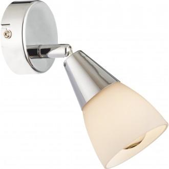 GLOBO 54919-1 | Tadeus Globo spot lámpa elforgatható alkatrészek 1x E14 króm, fehér