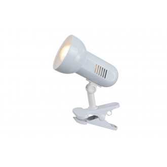 GLOBO 5496 | Basic-III Globo csiptetős lámpa vezeték kapcsoló 1x E27 fehér