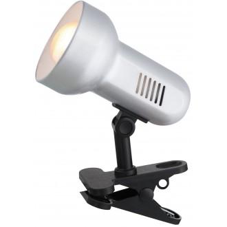 GLOBO 5497   Basic_III Globo csiptetős lámpa vezeték kapcsoló 1x E27 fekete, ezüst