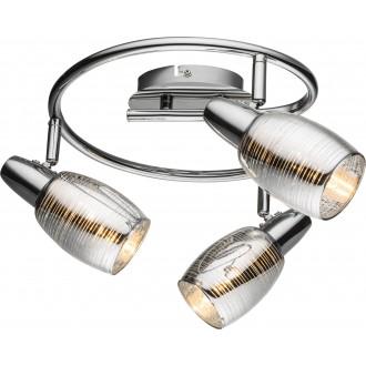 GLOBO 54986-3 | Carson Globo spot lámpa elforgatható alkatrészek 3x E14 króm, átlátszó