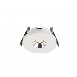 GLOBO 55010-1E | Christine-Timo Globo beépíthető lámpa Ø90mm 1x LED 200lm 3000K króm, fehér