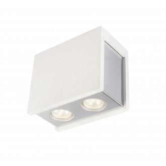 GLOBO 55010-2D | Christine-Timo Globo mennyezeti lámpa 2x GU10 króm, fehér