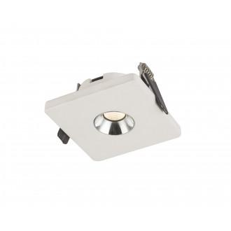 GLOBO 55010E | Christine-Timo Globo beépíthető lámpa 90x90mm 1x LED 378lm 3000K króm, fehér
