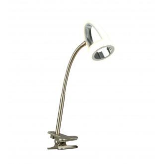 GLOBO 56006-1K | Rodrik Globo csiptetős lámpa kapcsoló flexibilis 1x LED 400lm 3000K króm, matt nikkel, szatén