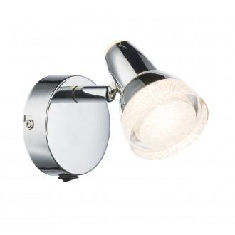 GLOBO 56134-1 | AlaskaG Globo spot lámpa kapcsoló elforgatható alkatrészek 1x LED 320lm 3000K króm, áttetsző