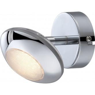 GLOBO 56217-1 | Gilles Globo spot lámpa elforgatható alkatrészek 1x LED 350lm 3000K króm, opál