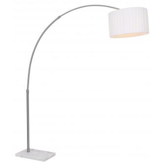 GLOBO 58226   LaNube_II Globo álló lámpa 198cm vezeték kapcsoló állítható magasság 1x E27 matt nikkel, márvány, fehér