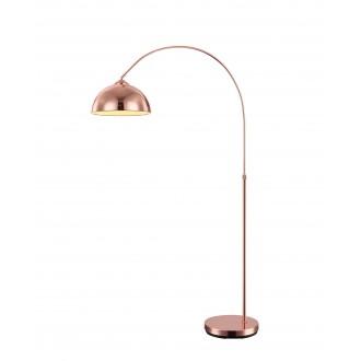 GLOBO 58227C | Newcastle-I Globo álló lámpa 141cm vezeték kapcsoló állítható magasság 1x E27 vörösréz