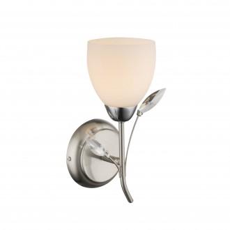 GLOBO 60215W | Singu Globo falikar lámpa 1x E14 króm, matt nikkel, opál