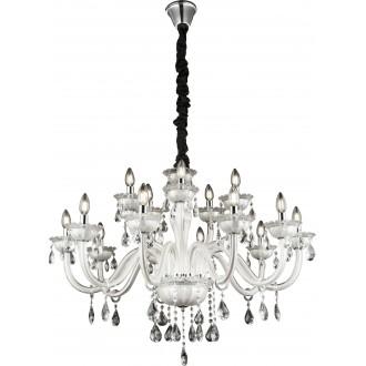 GLOBO 64118-15 | Teejay Globo csillár lámpa 15x E14 króm, fehér, kristály