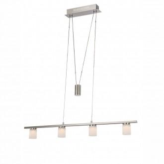 GLOBO 68025-4Z | Davide Globo függeszték lámpa ellensúlyos, állítható magasság 4x LED 1520lm 3000K matt nikkel, króm, fehér