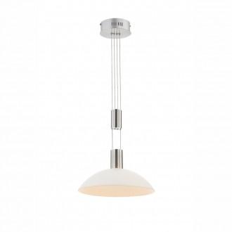GLOBO 68037-1 | Sherley Globo függeszték lámpa ellensúlyos, állítható magasság, szabályozható fényerő 1x LED 520lm 3000K matt nikkel, fehér