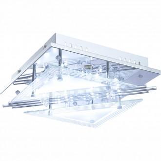 GLOBO 68246-4 | Spinosa Globo mennyezeti lámpa távirányító 4x G9 + 48x LED króm, átlátszó, szatén