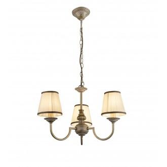 GLOBO 69031-3   Upolu Globo csillár lámpa 3x E14 fehér, arany, fehér