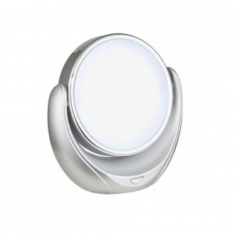 GLOBO 84026 | Towada Globo hordozható tükör kapcsoló 1x LED ezüst, fehér, tükör