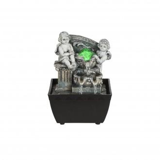 GLOBO 93028 | Globo szobaszökőkút lámpa színváltós 1x LED RGBK fekete, antik