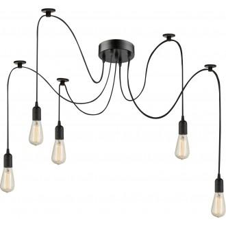 GLOBO A110-5 | Maracana Globo függeszték lámpa 5x E27 metál fekete