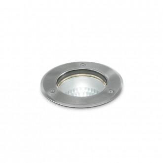 IDEAL LUX 032825   Park-IL Ideal Lux beépíthető lámpa - PARK PT1 ROUND MEDIUM - Ø150mm 150x150mm 1x E27 IP54 acél, átlátszó