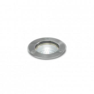 IDEAL LUX 032832   Park-IL Ideal Lux beépíthető lámpa - PARK PT1 ROUND SMALL - Ø120mm 120x120mm 1x GU10 IP54 acél, átlátszó