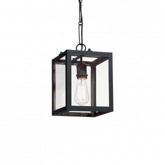 IDEAL LUX 092850 | Igor-IL Ideal Lux függeszték lámpa - IGOR SP1 NERO - 1x E27 matt fekete, átlátszó