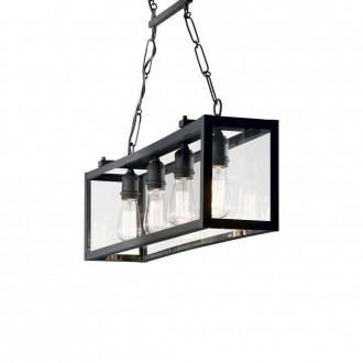 IDEAL LUX 092942 | Igor-IL Ideal Lux függeszték lámpa - IGOR SP4 NERO - 4x E27 matt fekete, átlátszó