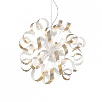 IDEAL LUX 101606 | Vortex Ideal Lux függeszték lámpa - VORTEX SP6 ORO - 6x E14 fehér, opál, arany