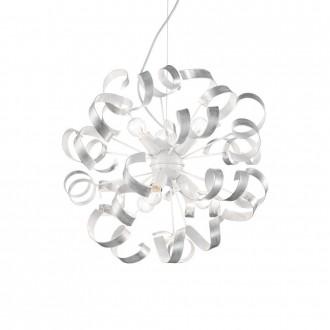 IDEAL LUX 101613 | Vortex Ideal Lux függeszték lámpa - VORTEX SP6 ARGENTO - 6x E14 fehér, opál, ezüst