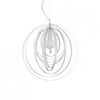 IDEAL LUX 103723 | Disco-IL Ideal Lux függeszték lámpa - DISCO SP1 BIANCO - elforgatható alkatrészek 1x E27 matt fehér