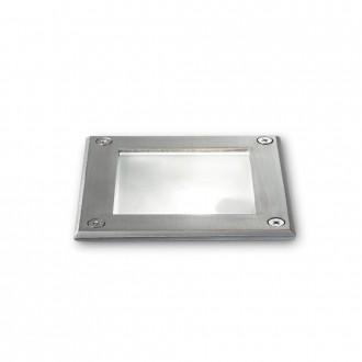 IDEAL LUX 117881   Park-IL Ideal Lux beépíthető lámpa - PARK PT1 SQUARE - 120x120mm 1x G9 IP54 acél, átlátszó
