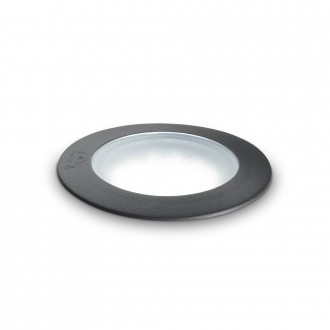 IDEAL LUX 120249   Ceci-IL Ideal Lux beépíthető 5000 kg lámpa - CECI PT1 ROUND SMALL - UV álló műanyag Ø90mm 90x90mm 1x GU10 4000K IP67 UV fekete, opál