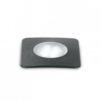 IDEAL LUX 120317   Ceci-IL Ideal Lux beépíthető 5000 kg lámpa - CECI PT1 SQUARE SMALL - UV álló műanyag 90x90mm 1x GU10 4000K IP67 UV fekete, opál