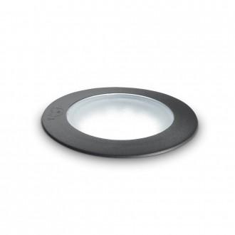 IDEAL LUX 120324   Ceci-IL Ideal Lux beépíthető 5000 kg lámpa - CECI PT1 ROUND BIG - UV álló műanyag Ø155mm 155x155mm 1x GX53 800lm 4000K IP67 UV fekete, opál