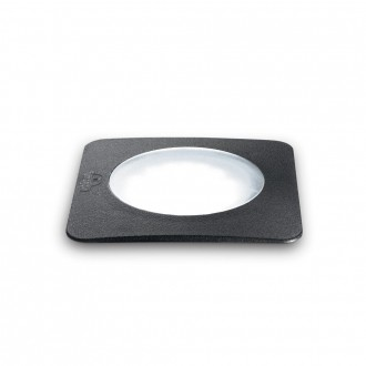 IDEAL LUX 120386   Ceci-IL Ideal Lux beépíthető 5000 kg lámpa - CECI PT1 SQUARE BIG - UV álló műanyag 155x155mm 1x GX53 800lm 4000K IP67 UV fekete, opál