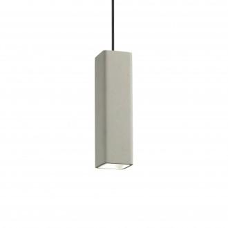 IDEAL LUX 150673 | Oak-IL Ideal Lux függeszték lámpa - OAK SP1 SQUARE CEMENTO - festhető 1x GU10 szürke