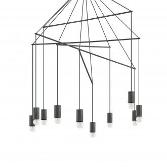 IDEAL LUX 158860 | Pop-IL Ideal Lux függeszték lámpa - POP SP10 NERO - 10x E27 matt fekete