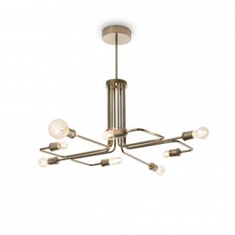 IDEAL LUX 160269 | Triumph Ideal Lux függeszték lámpa - TRIUMPH SP8 OTTONE ANTICO - 8x E27 antikolt réz