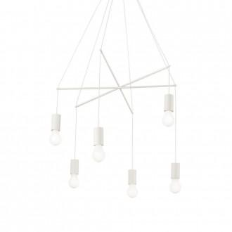 IDEAL LUX 186795 | Pop-IL Ideal Lux függeszték lámpa - POP SP6 BIANCO - 6x E27 matt fehér