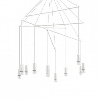 IDEAL LUX 186801 | Pop-IL Ideal Lux függeszték lámpa - POP SP10 BIANCO - 10x E27 matt fehér