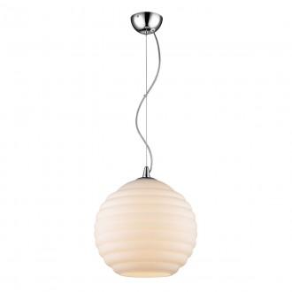 ITALUX 19047-1P-L-WH | Encore Italux függeszték lámpa 1x E27 króm, krémszín
